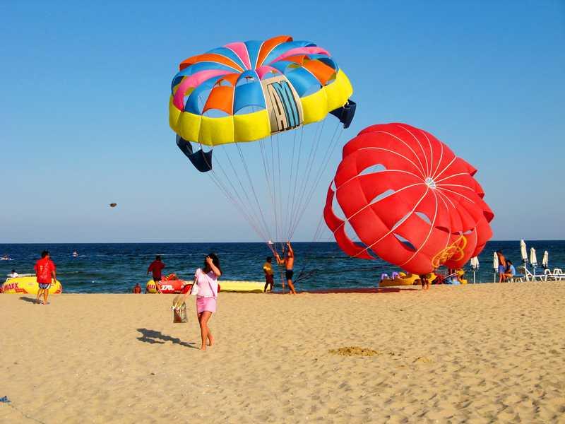 Развлечения на пляжах Болгарии
