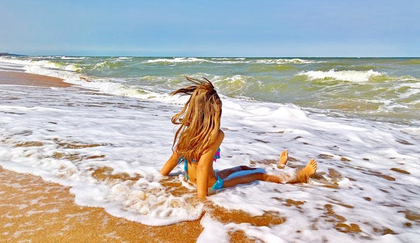 отдых на пляже Азовского моря