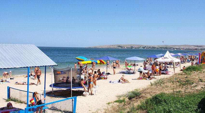 пляж Щелкино Азовское море