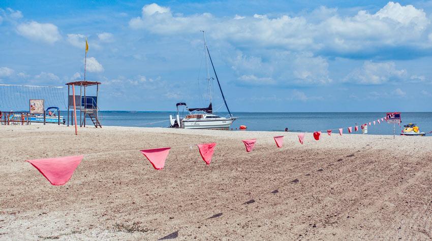 пляж на Ейской косе