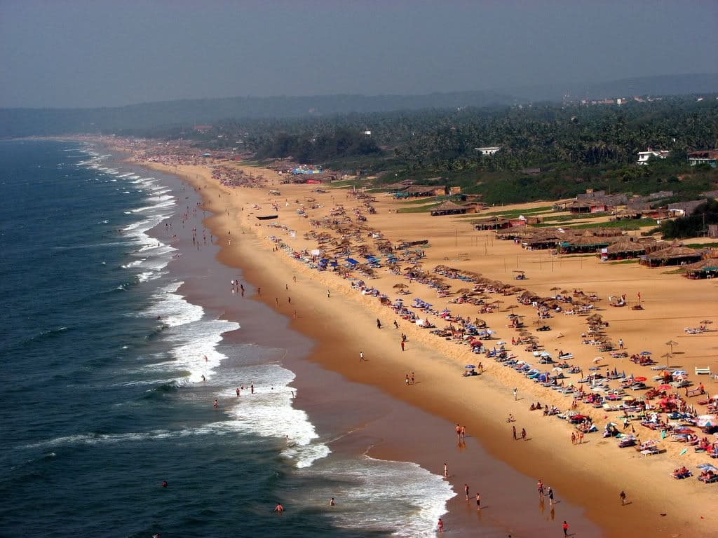 Пляж Кандолим на Гоа