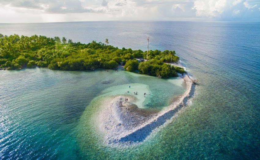 остров атолла Адду Мальдивы