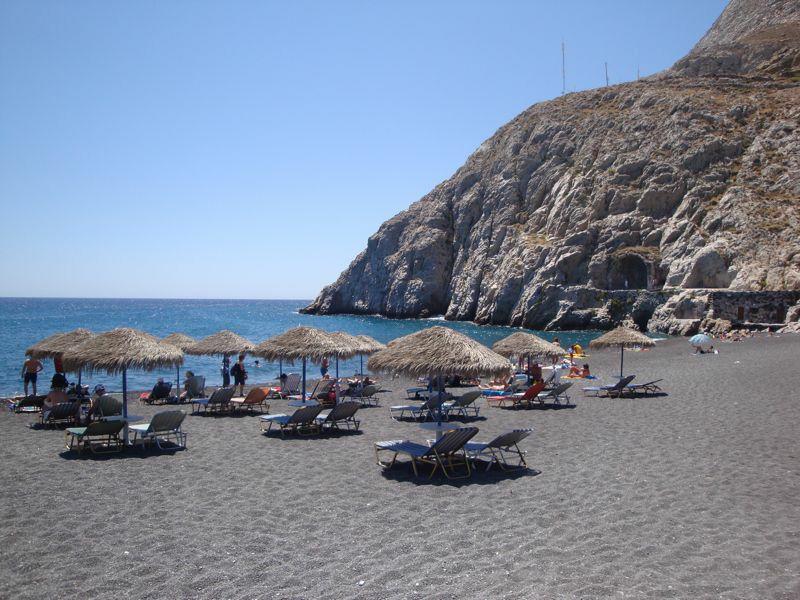 Пляж Камари на Санторини