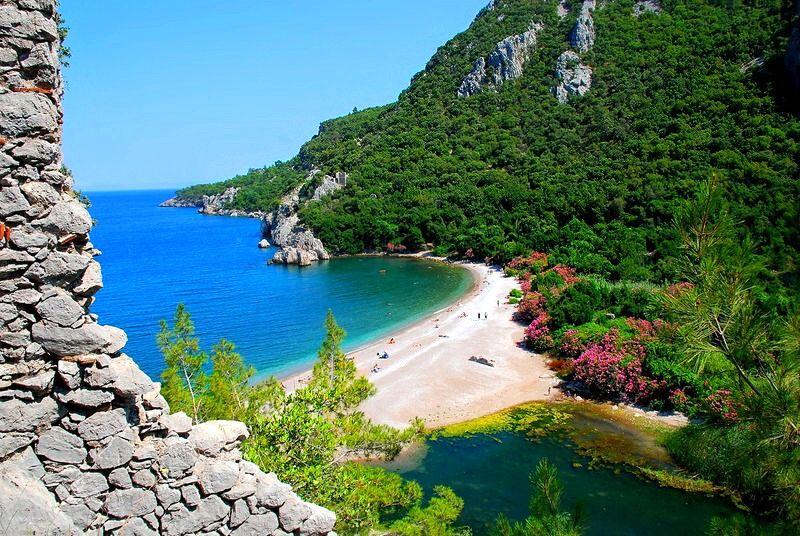 Песчаные пляжи в Турции