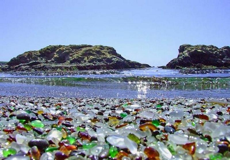 Стеклянный пляж на Форт Брэгг