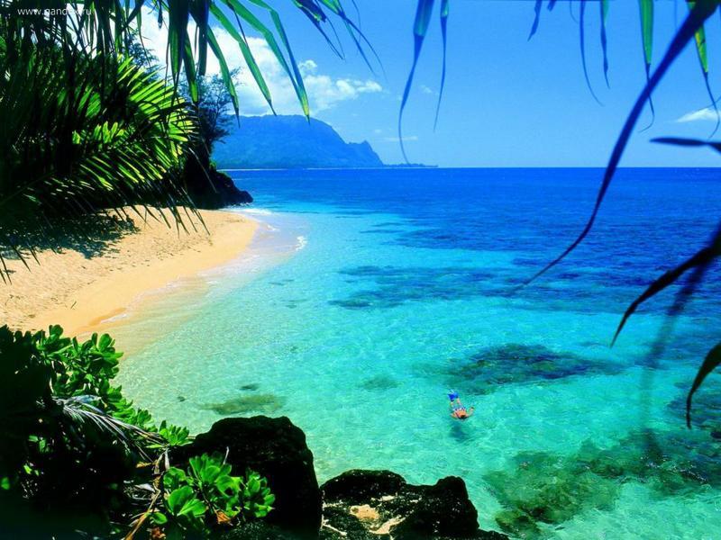 Гаваи пляж