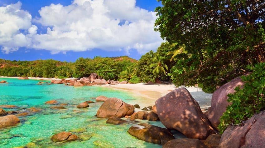 пляж Ансе Лацио Cейшелы
