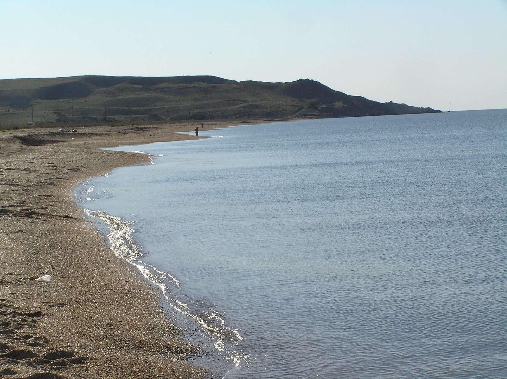 Пляж села Курортное