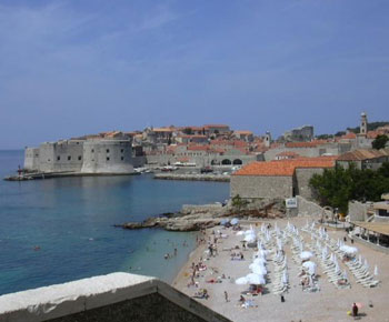 Пляжи Хорватии бары и кафе