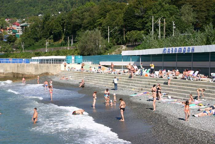 Пляж санатория Фазотрон