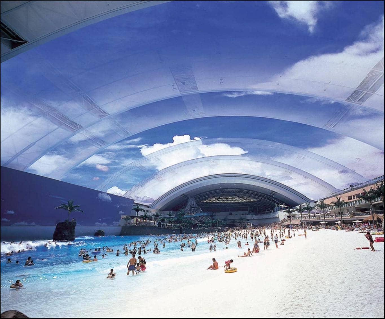 Япония- крытый пляж
