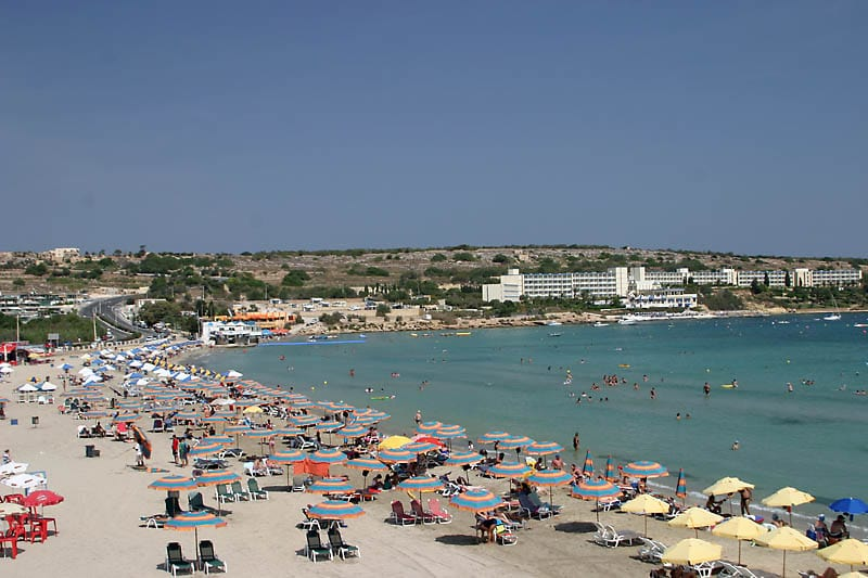Пляж Mellieha Bay