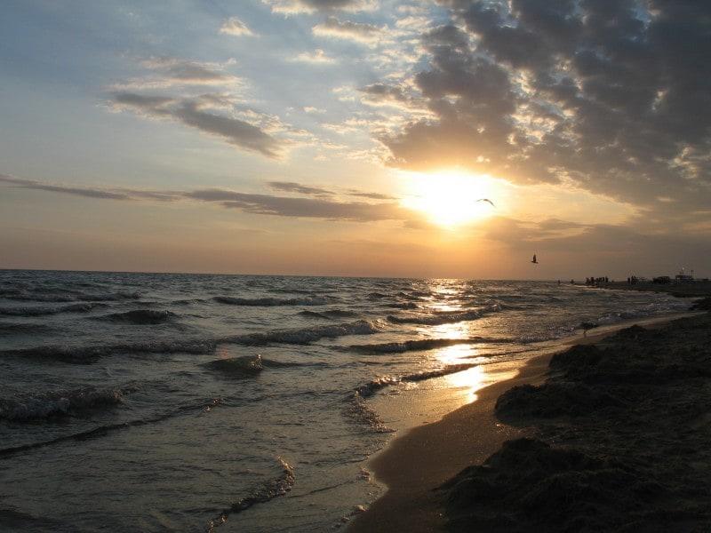 Пляж поселка Витязево