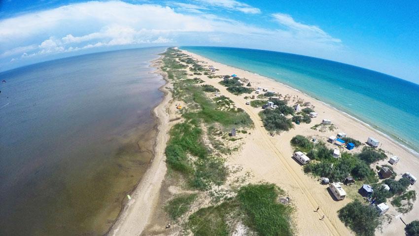 дикий пляж Бугазская коса