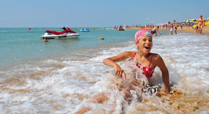 отдых на пляже Кавказ Геленджик