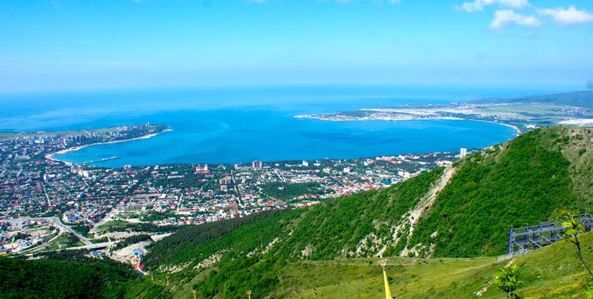 Геленджикская бухта пляж Кавказ