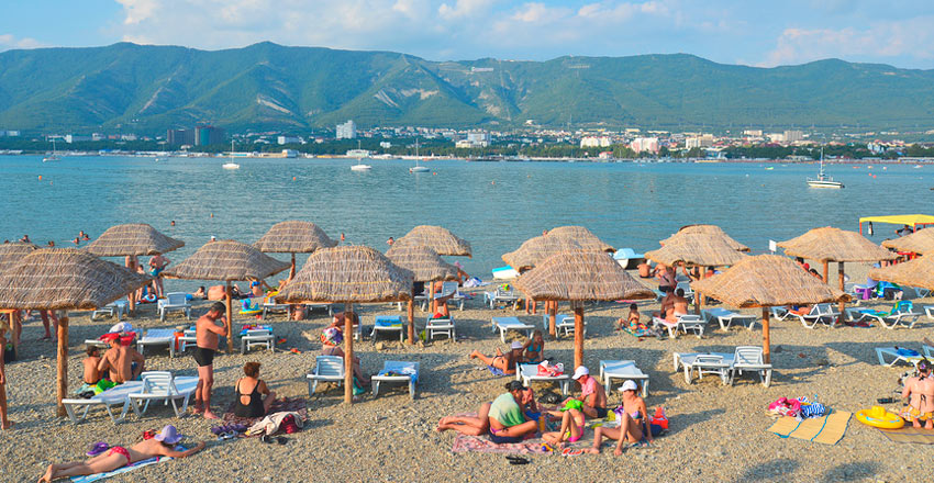 отдых на пляже Сады Морей