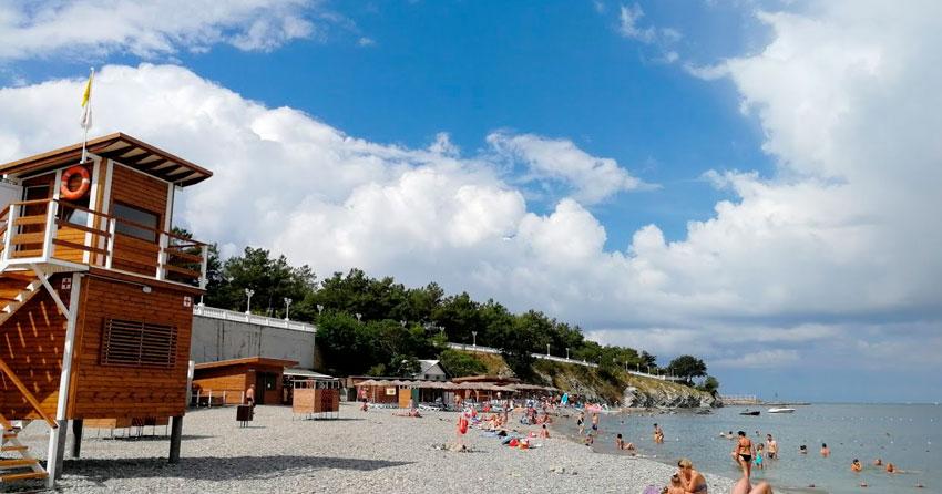 пляж Нива Геленджик
