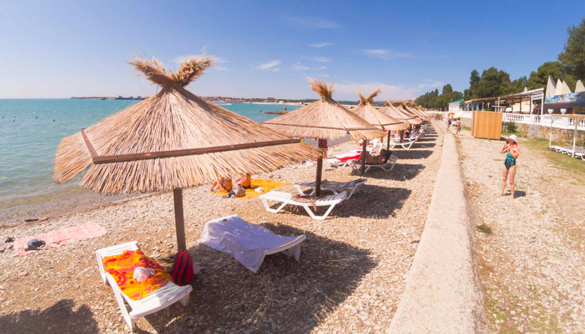 Геленджике пляж Строиитель