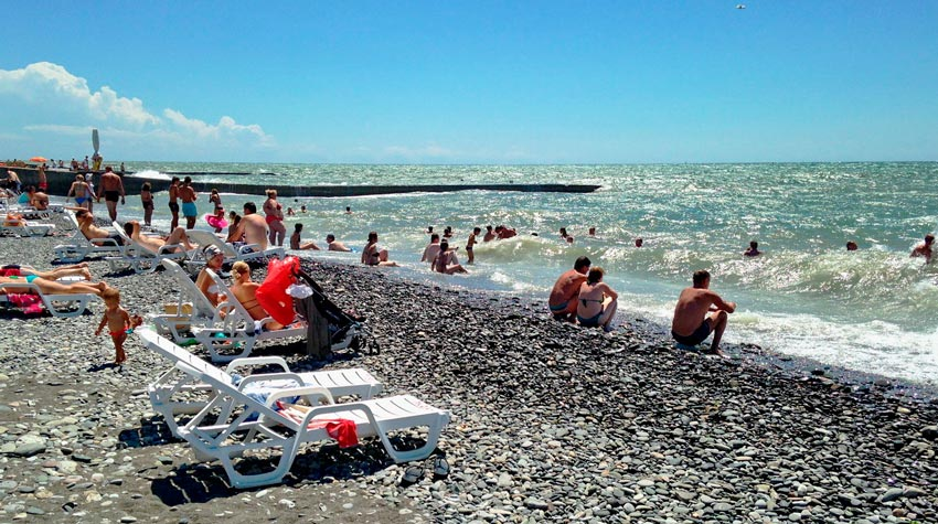 пляж им Мориса Тореза Сочи