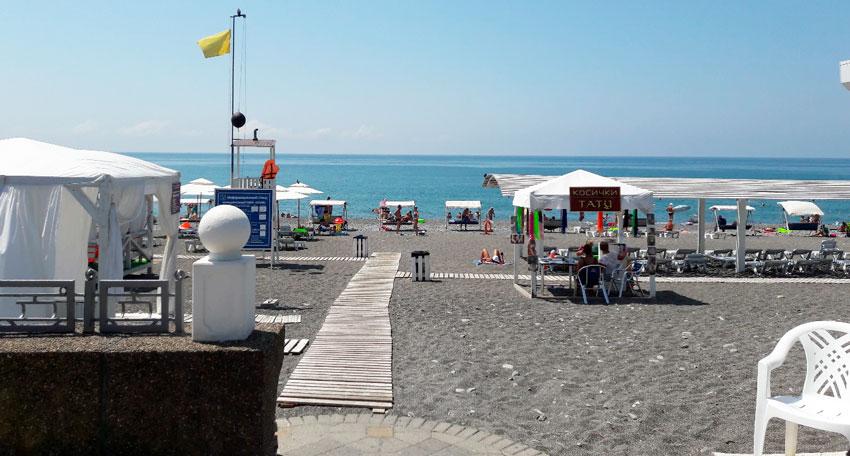 пляж Огонек Адлер
