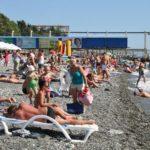 отдых на пляже Огонек Адлер