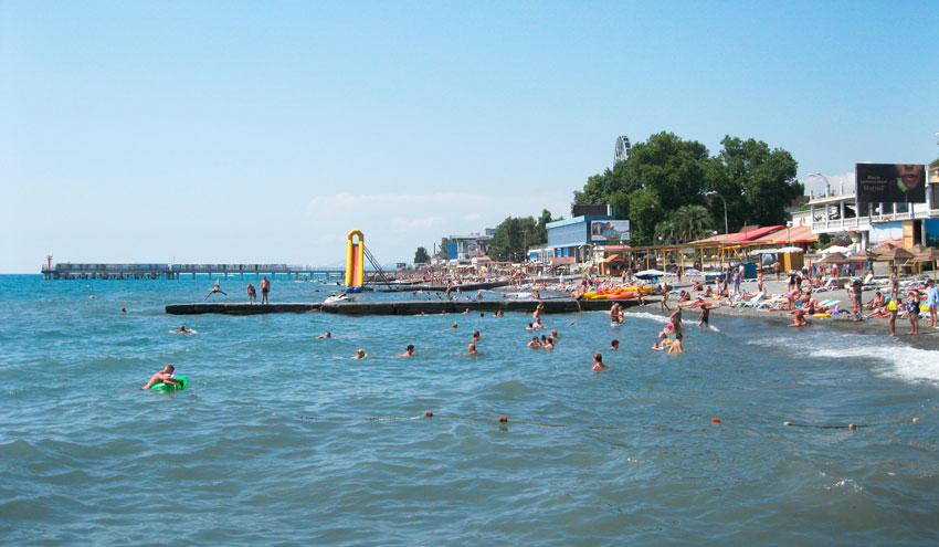 пляж Чайка Адлер