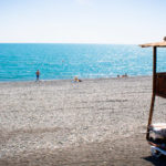 побережье Адлера пляж Имеритинский