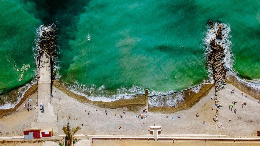 центральный пляж Туапсе дикая зона вид сверху