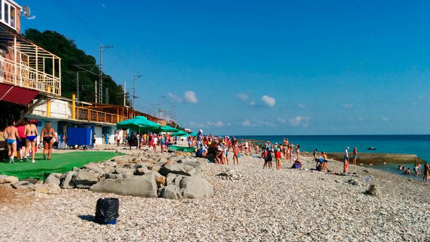 центральный пляж Дедеркое