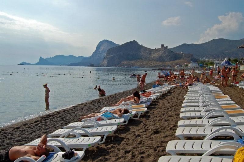 фото пляж судак