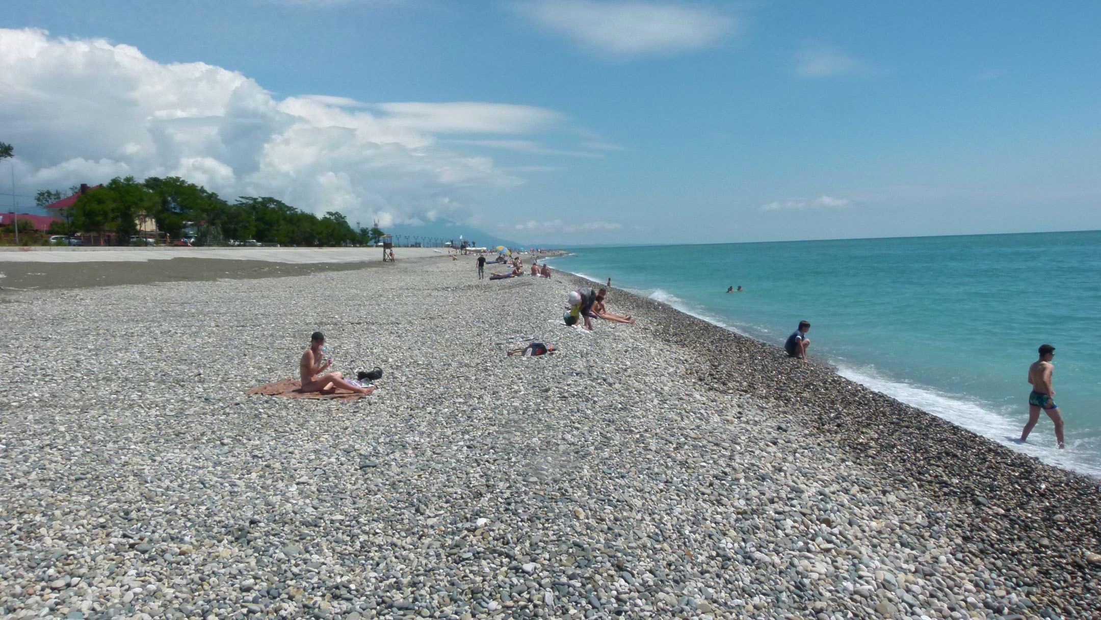 Пляж у совхоза Россия