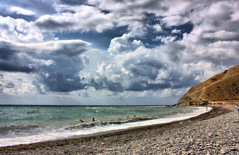 Галечные пляжи в Краснодаре