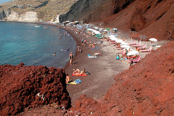 Пляжи острова Санторини