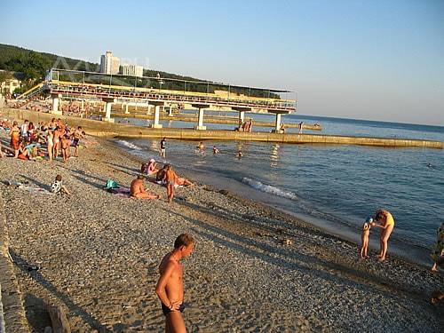 "Фото пляж возле пансионата ""Энергетик"" Дивноморск"