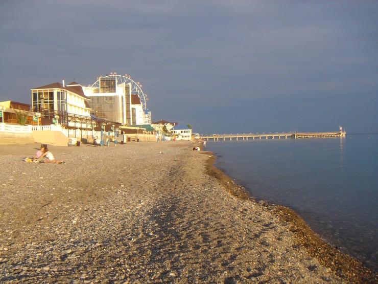 Фото пляжей Лазаревского