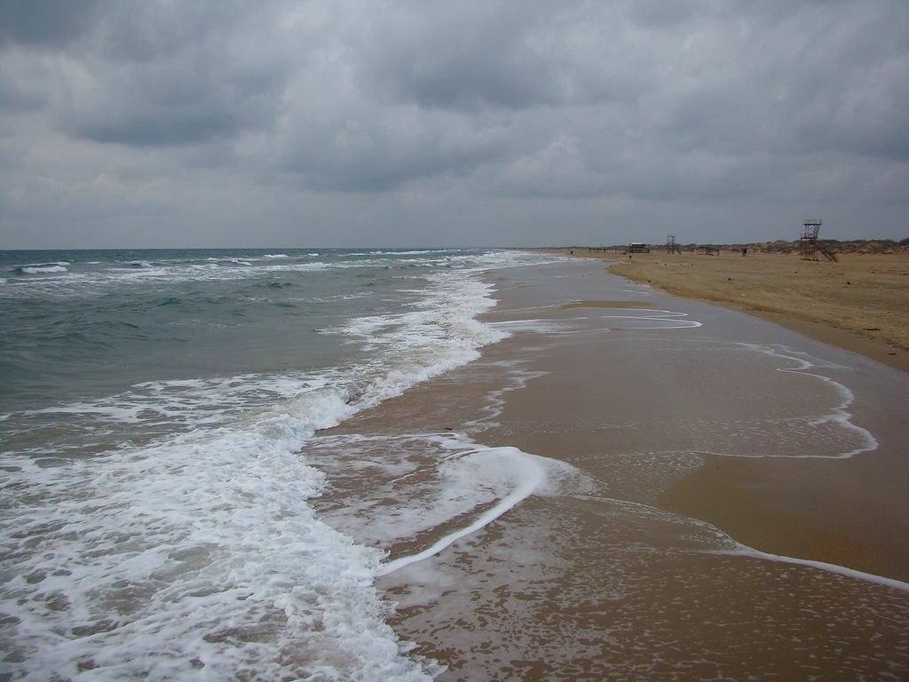 На фото пляж в Витязево