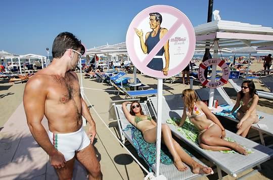 Пляж для Женщин в Италии