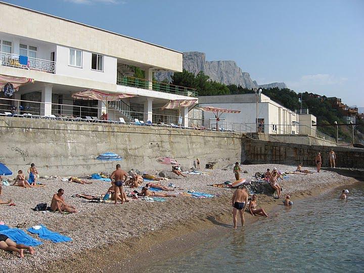 Пляж санатория Форос