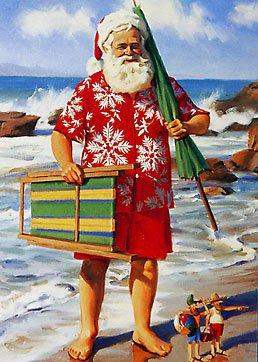 В Новый год на пляже