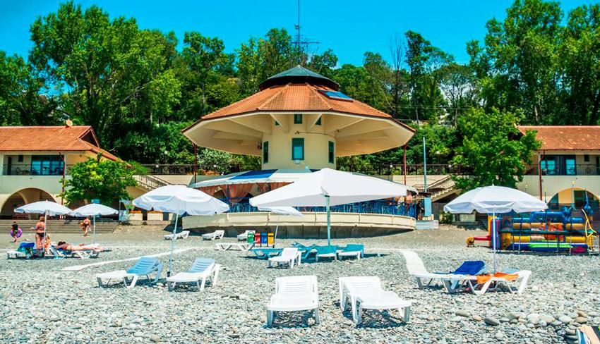 пляж отеля Русский Дом Дивный