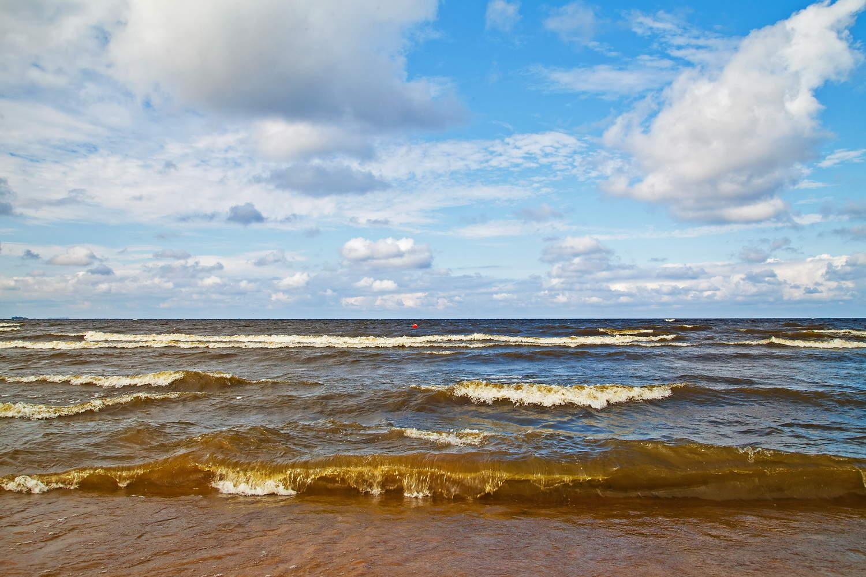 Пляж Ласковый у поселка Солнечное