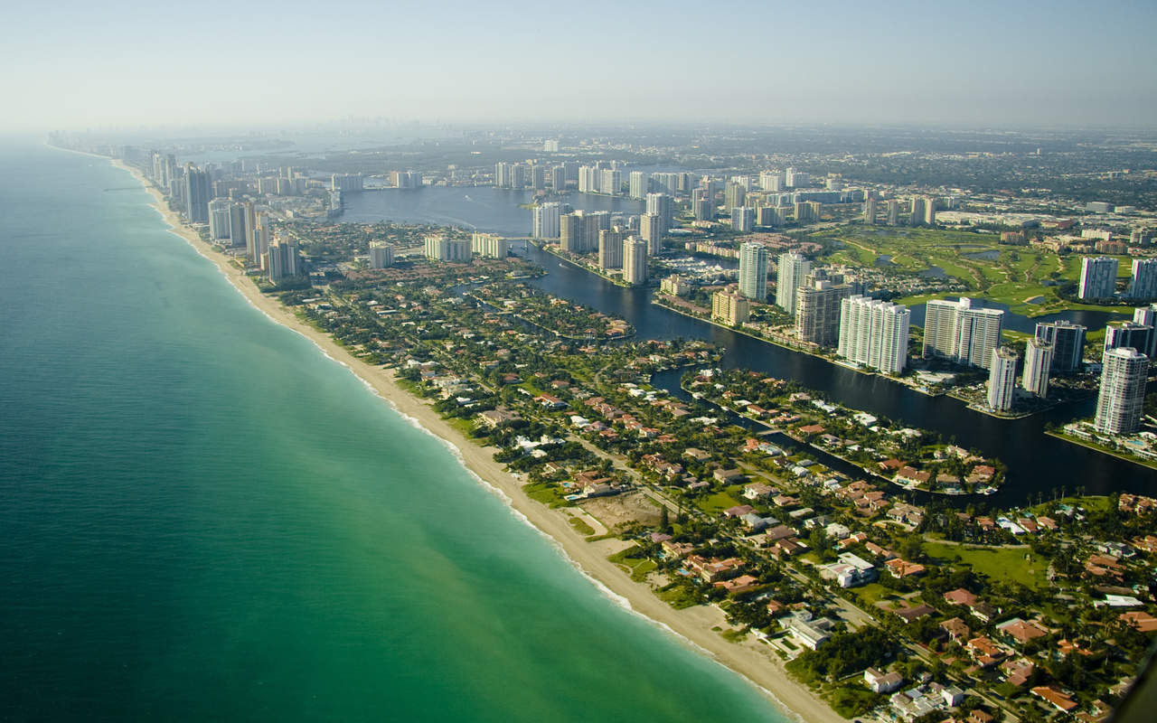 Пляж побережья Флориды