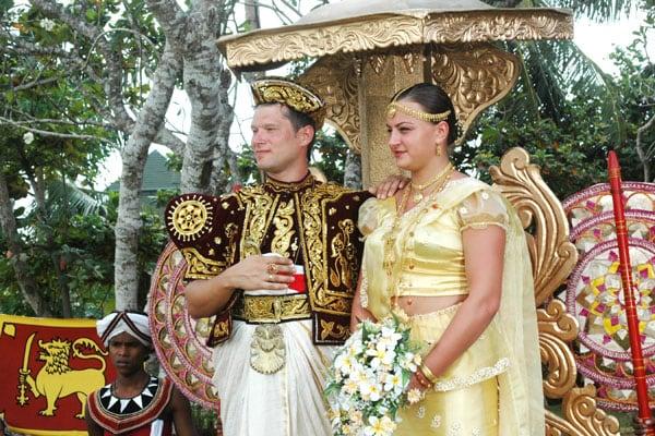 Свадебная церимония на Шри-Ланке