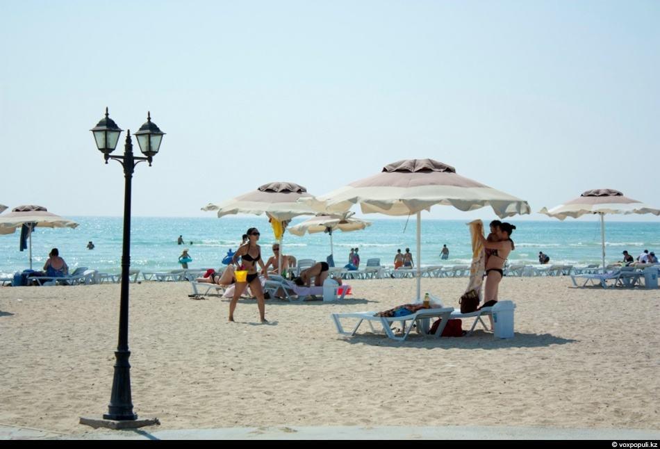 На пляже в Актау