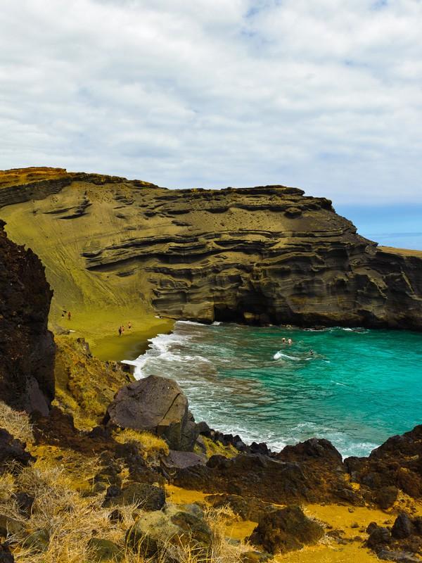 Пляж Папаколеа на Гаваях