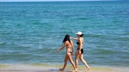 Пляжи Каспия в Баку