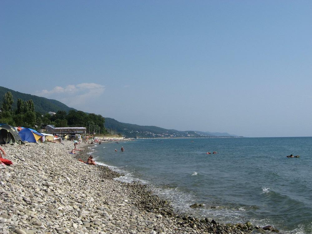 Центральный пляж Аше