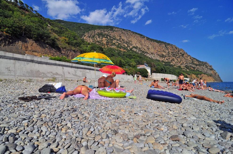 Артек - галечные пляжи
