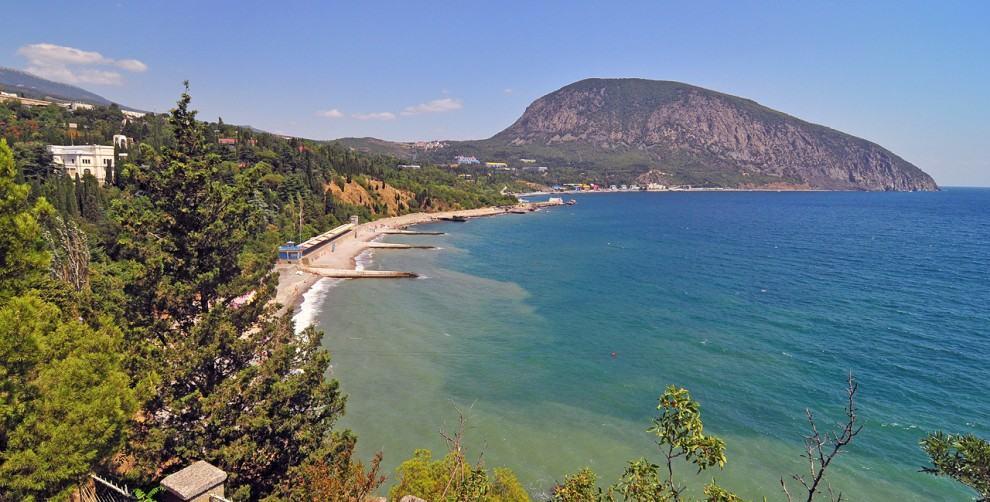Вид побережья Артека